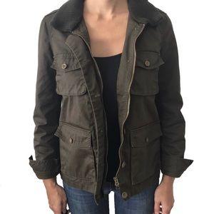 J. CREW Washed & Aged Utility Jacket-Size XS